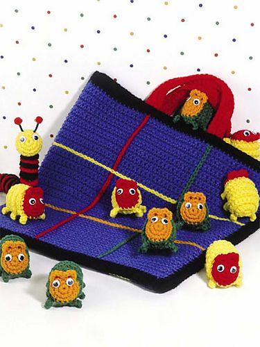 Tres en raya en crochet