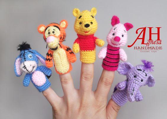Muñequitos para dedos en crochet