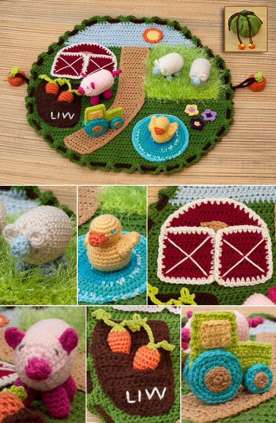 Granja para bebés en crochet