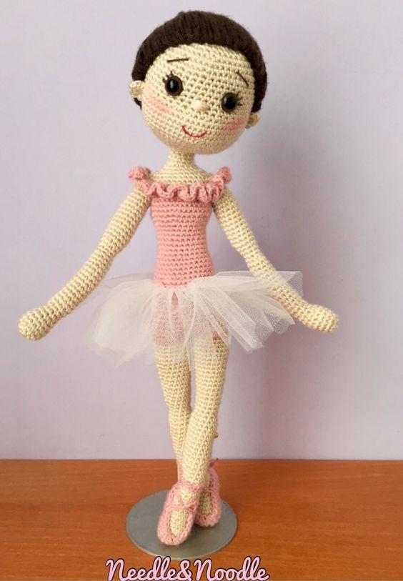 Muñeca de ballet en crochet
