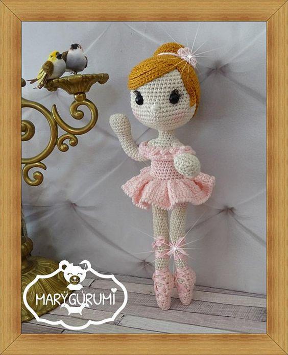 Preciosa bailarina de ballet en crochet