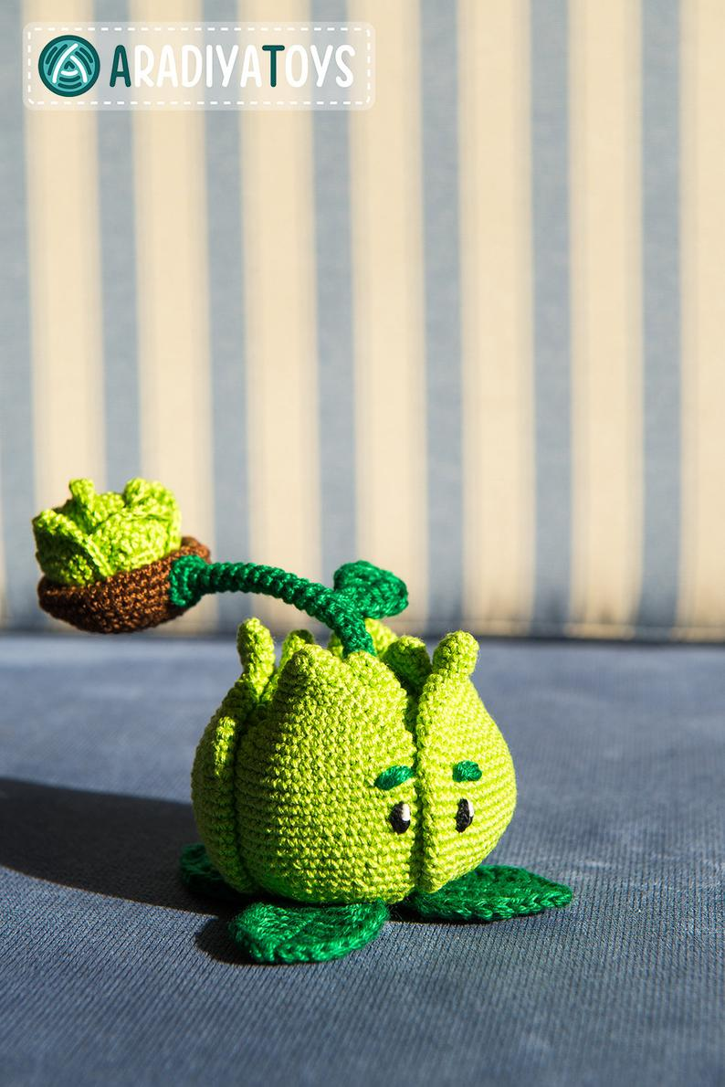 Cabbage-pult, amigurumi de Plants vs Zombies