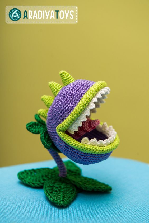 Chomper amigurumi, plants vs zombies
