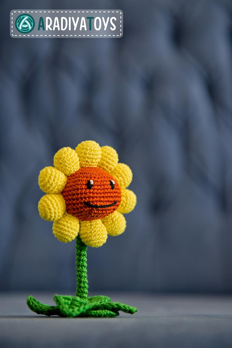Girasol (Sunflower) amigurumi, de Plants vs Zombies