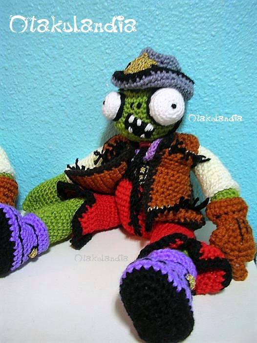 zombie cowboy amigurumi de Plants vs Zombies