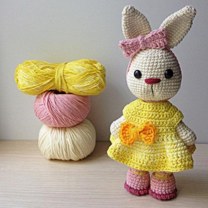 Conejitos guapos hechos a mano en crochet