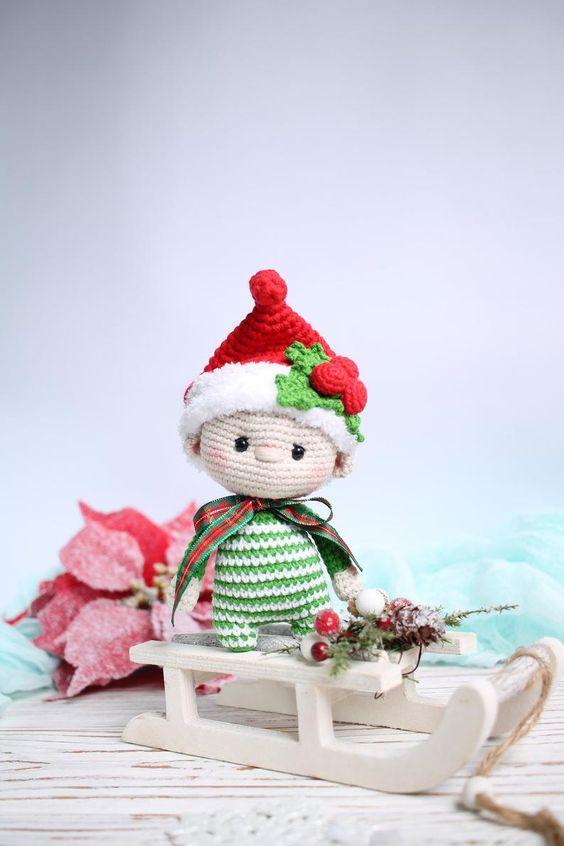 Bebés duende amigurumis, los más lindos de Navidad