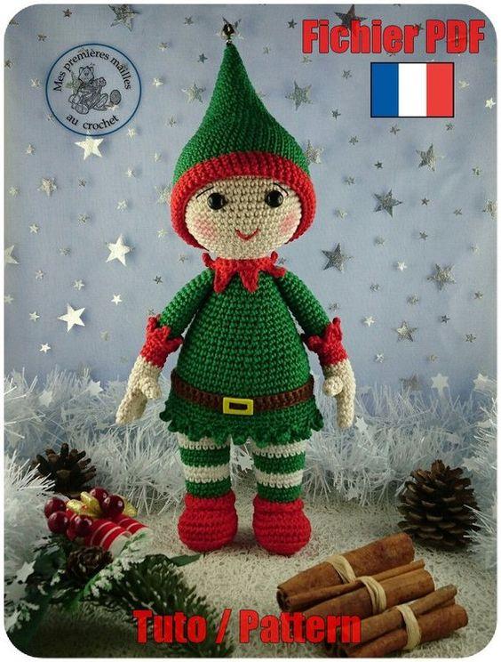 Pequeño duende de navidad en crochet