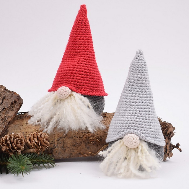 2 Gnomos más lindos de Navidad en crochet
