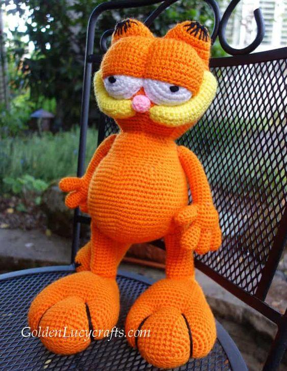Garfields xxl hecho a mano en crochet