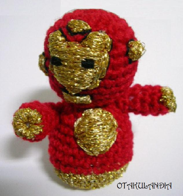 iron man hecho a mano en crochet