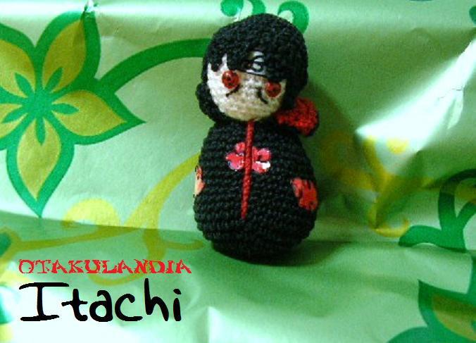 Itachi de los Akatsukis amigurumi