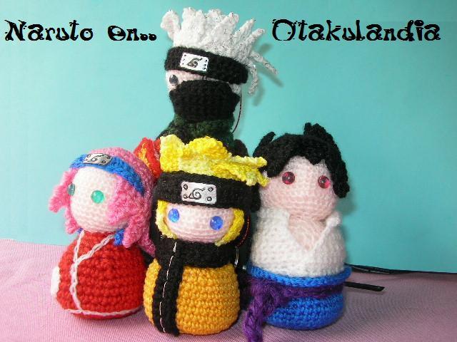 Naruto y compañía, los buenos y los malos en crochet