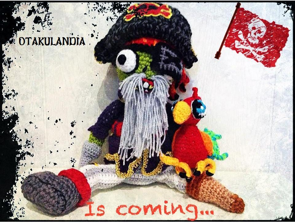 zombie pirata amigurumi de Plants vs Zombies