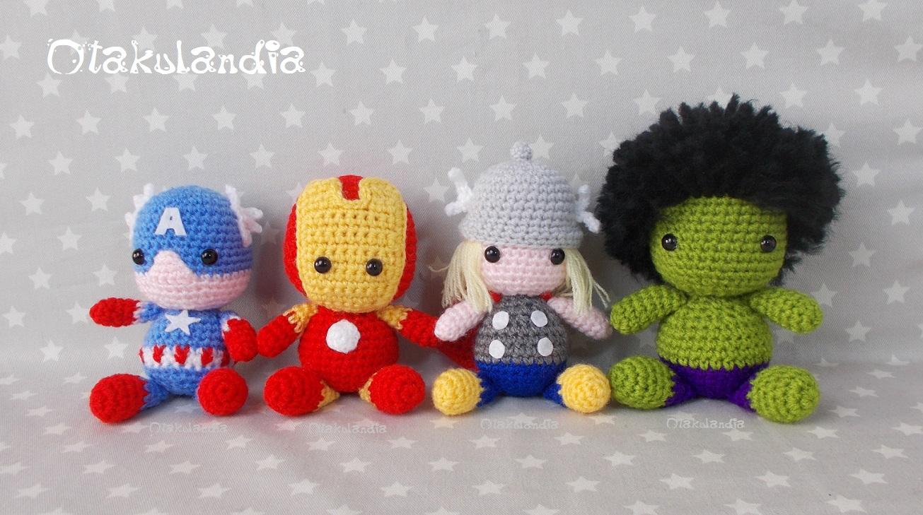 Vengadores, hechos a mano en crochet