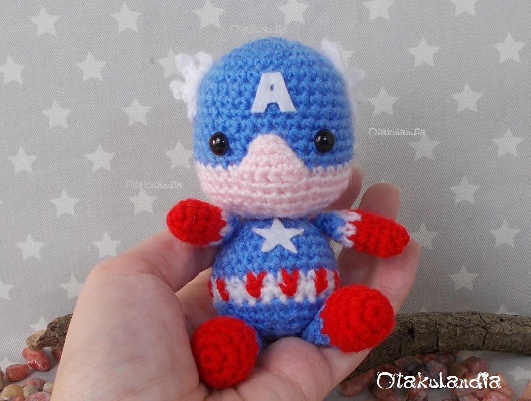 Capitán América, chibi amigurumi