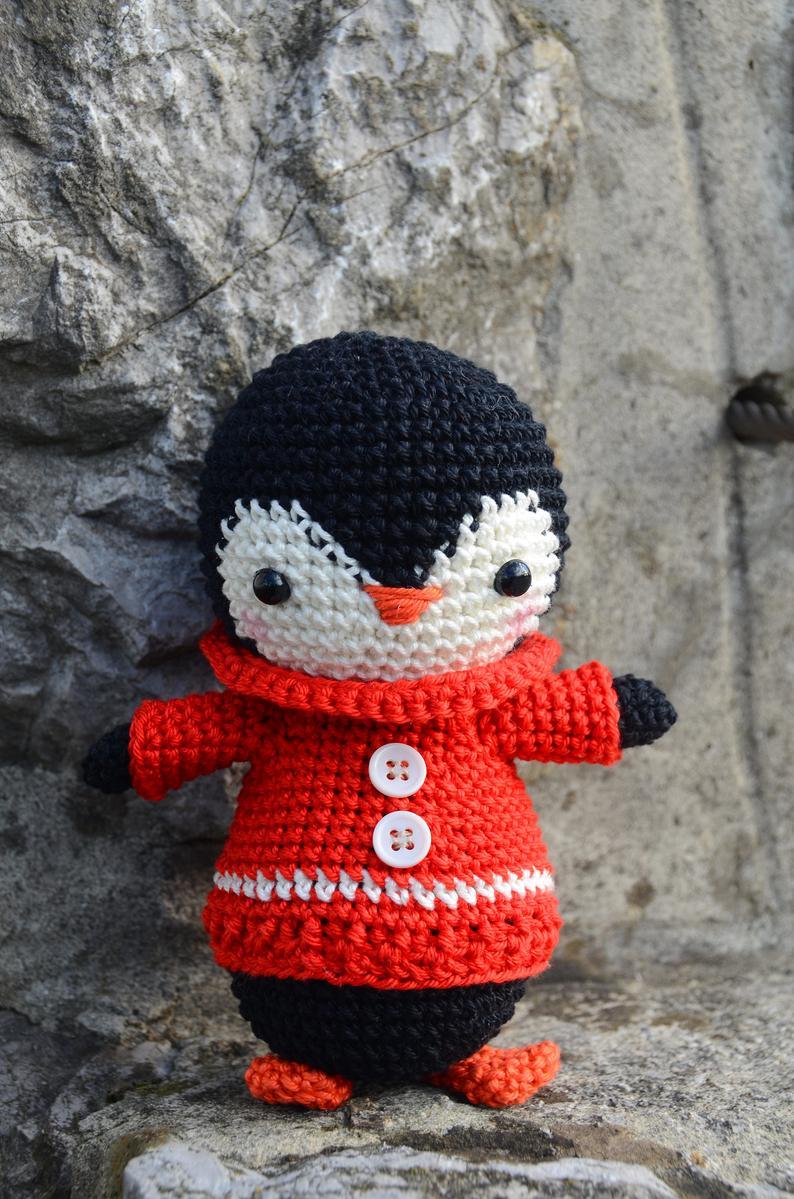 Pingüino crochet