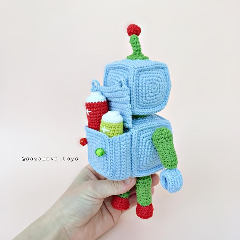 Robots amigurumi un regalo inolvidable