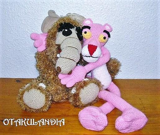 alf vs pantera rosa crochet