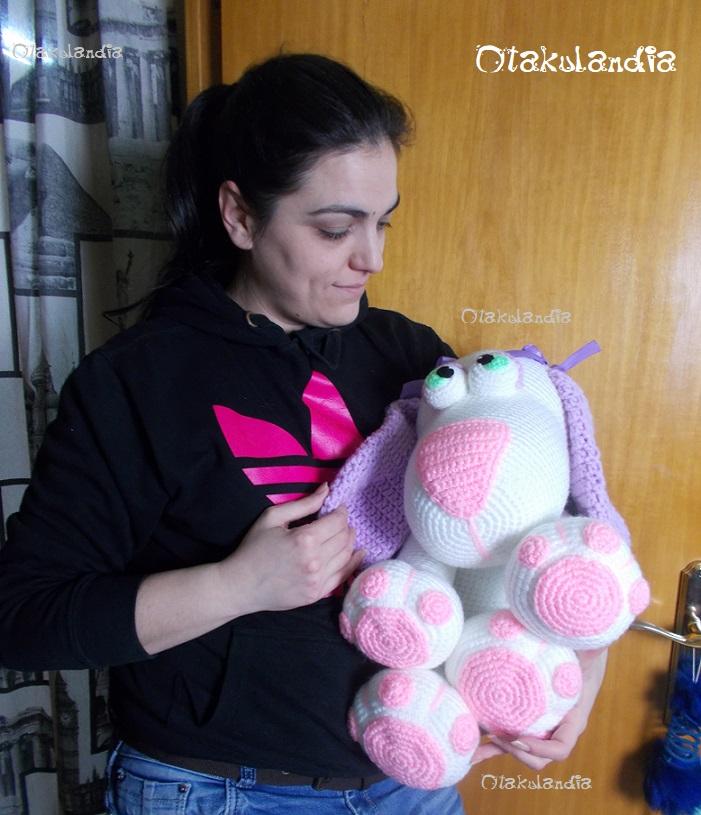 perrita gigante crochet