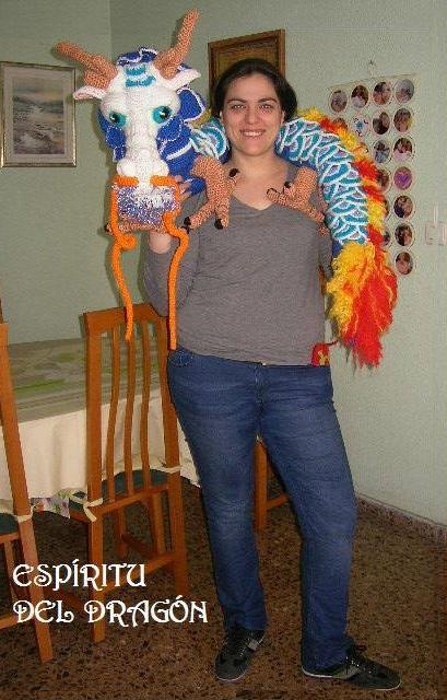 dragón chino gigante crochet