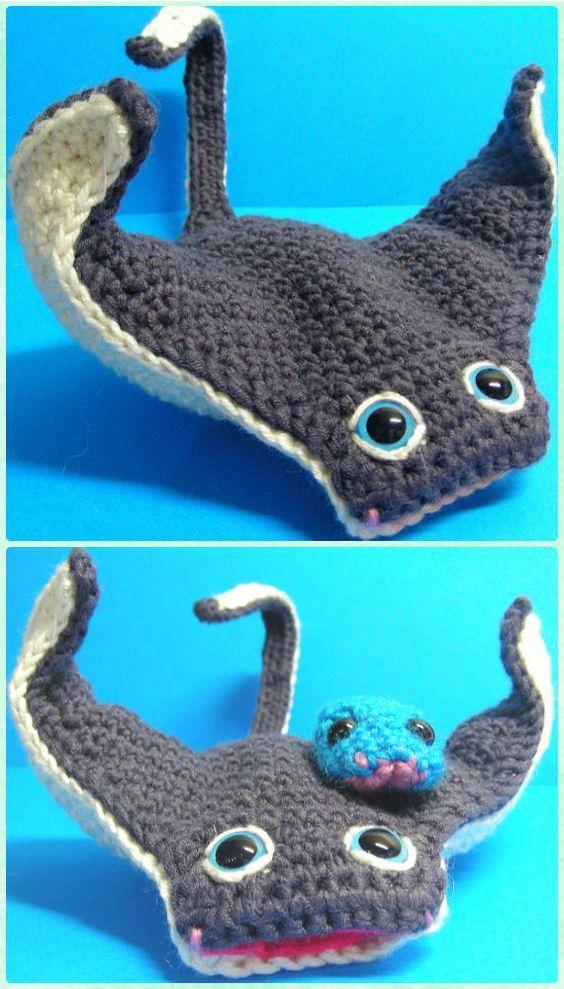 manta raya crochet