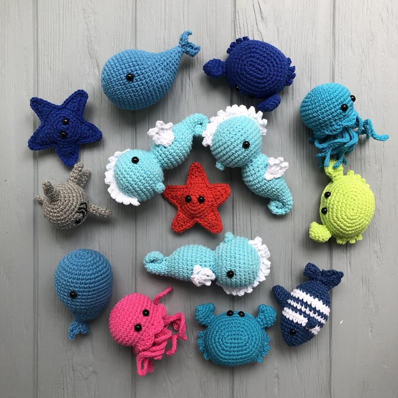 animales marinos crochet