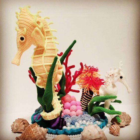 Amigurumis que viven bajo el mar