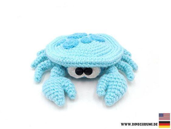 Cangrejos de mar en crochet