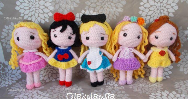 personajes disney crochet