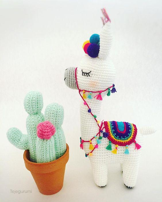50 Llamas adorables hechas en crochet